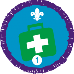 First Aid Staged Badge